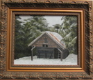 Oil Painting Of Roan Mtn. Shelter