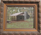 Oil Painting Of Spence Field by ATShelterArtist in North Carolina & Tennessee Shelters