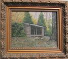 Oil Painting Of Sunrise Shelter