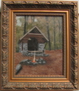 Oil Painting Of Windsor Vt Shelter by ATShelterArtist in Vermont Shelters