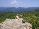 Velo Rider And Scout On Top Of Bearfence Rock Scramble by Furlough in Section Hikers
