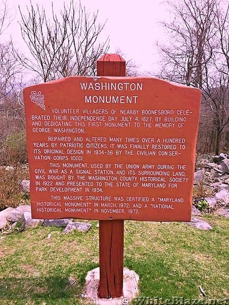 Washington Monument Sign