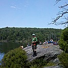 Coach Lou at Guilder Pond, with Mt. Undine in Background, July 14, 2012 by Driver8 in Views in Massachusetts