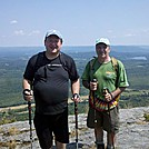 Driver 8 and Coach Lou  at North End of Mt. Race Cliffs, July 14, 2012
