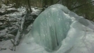 Walrus-like Ice Formation Near Lower Race Brook Falls, Sheffield, Mass., Late Winter 2011