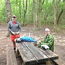 ferdinand l and the nutty prof at hawk mtn shelter by Cotton Terry in Section Hikers