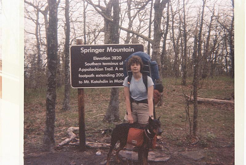 Robin at Springer Mt 1985