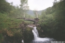 Watherfall and old bridge