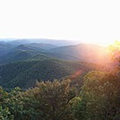 sunset blood mountain by amnesia in Trail & Blazes in Georgia