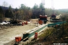 Abol Bridge under construction