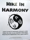 """ALDHA """"Hike in Harmony"""" poster at Baxter"""