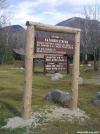 New info sign at Katahdin Stream Campground