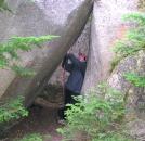 Flash holds up a falling boulder on Katahdin by TJ aka Teej in Trail & Blazes in Maine