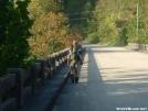 Whiteblaze on bridge by grrickar in Trail & Blazes in North Carolina & Tennessee