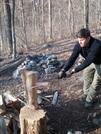 Noah Chopping Wood @ Myron Glaser Cabin by k.reynolds70 in Trail & Blazes in Virginia & West Virginia