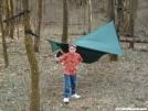 logans first hammock trip