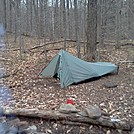 Tarptent Contrail on The Old Loggers Path 4/19/14