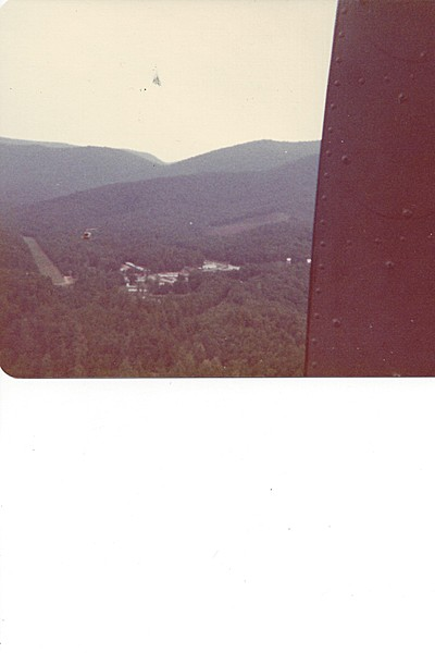Camp Merrill, view from a Huey, 1976