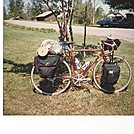 Bicycle Touring by coach lou in Tent camping