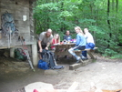 Thruhikers At Telephone Pioneers Shelter