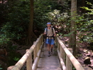 2005 Section Hike - A Tractor On A Bridge by Fat Man Walking in Section Hikers