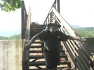 2008 Section Hike -  A Fat Man On A Foot Bridge