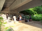 A Party Under A Bridge by Jeremy in North Carolina &Tennessee Trail Towns