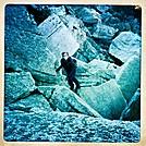 Alex Climbing in Catskills by GrassyNoel in Views in New Jersey & New York