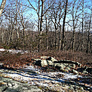 One of many Campsites at  West Mountain Shelter, Feb 18, 2012