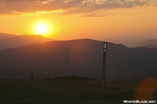 Sunset With A White Blaze Atop Max Patch