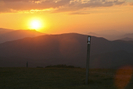 Sunset With A White Blaze Atop Max Patch by Midway Sam in Views in North Carolina & Tennessee