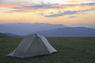 Sunrise Over Camp At Max Patch Bald