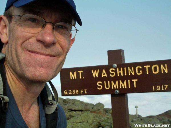 Kerosene Self-portrait atop Mt. Washington
