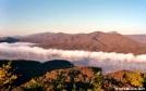 Carvins Cove Reservoir with Fog Lifting by Kerosene in Views in Virginia & West Virginia