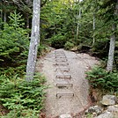 Rebar up Slippery Rock Slope by Kerosene in Trail & Blazes in Maine