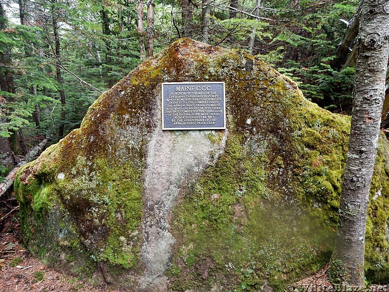 Plaque south of Sugarloaf Mountain