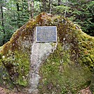 Plaque south of Sugarloaf Mountain by Kerosene in Trail & Blazes in Maine