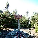 Summit of North Crocker Peak by Kerosene in Trail & Blazes in Maine