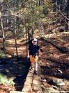 Hikerhead Crossing Mighty Brown Mountain Creek by Kerosene in Section Hikers