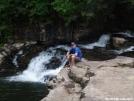 Kerosene at Dismal Creek Falls by Kerosene in Section Hikers