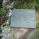 Gentian Pond Campsite Plaque