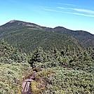 Goose Eye Peaks from Meadow by Kerosene in Views in Maine