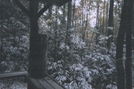 Snow Outside Mountaineer Shelter