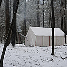 December Snow by Cadenza in Tent camping