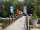 White blaze at Nantahala footbridge by Youngblood in Trail & Blazes in North Carolina & Tennessee