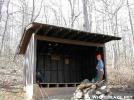 Gooch Gap Shelter by Youngblood in Gooch Gap Shelter