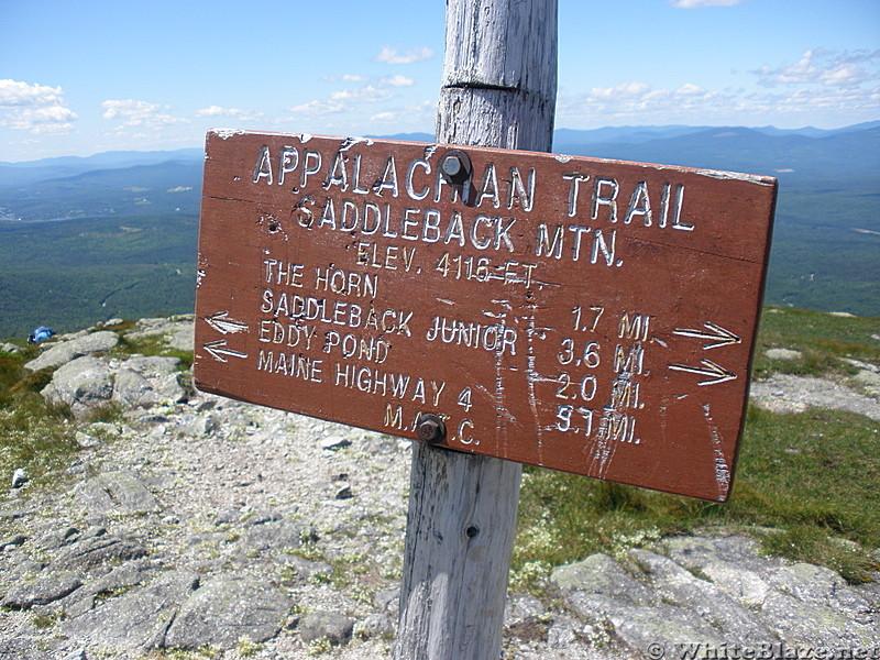 summit of Saddleback Mountain