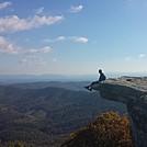 Sitting on McAfee Knob by carouselambra in Views in Virginia & West Virginia