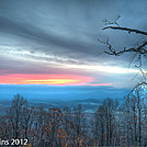 Winter Sunrise from Afton Overlook South of Rockfish Gap