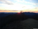 Silers bald view sunset